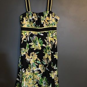 Madison Leigh Yellow/black/green Dress (14)